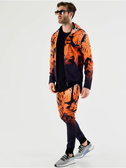 VSCT Clubwear Zip Hoodie Graded Tech Fleece Hooded Leaf-Camo oransje