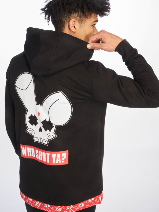 Who Shot Ya? Hoody Big Logo schwarz