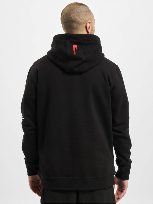 Who Shot Ya? Hoody Warning schwarz