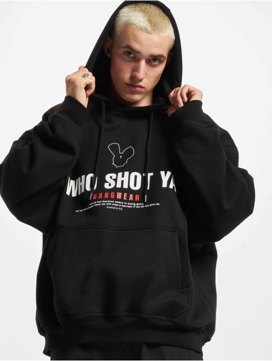 Who Shot Ya? Hoody Gangwear schwarz
