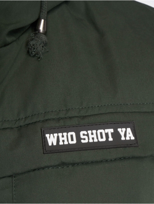 Who Shot Ya? Manteau hiver Battle Bass olive
