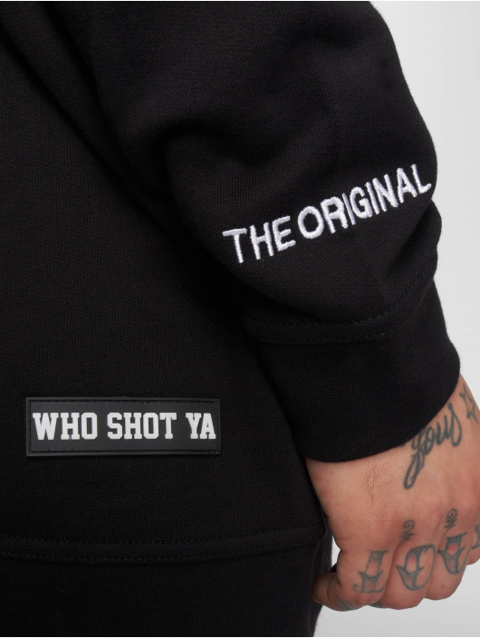 Who Shot Ya? Pullover Camou Funk schwarz