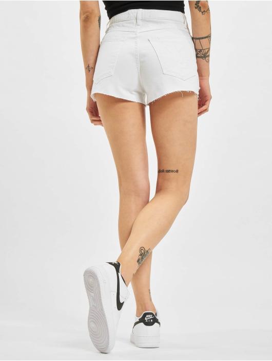 Who Shot Ya? Short Ice Jeans blanc