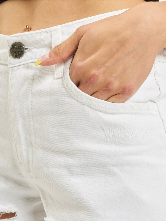 Who Shot Ya? Shorts Ice Jeans weiß