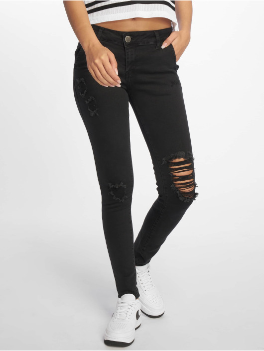 Who Shot Ya? Skinny jeans Ice zwart
