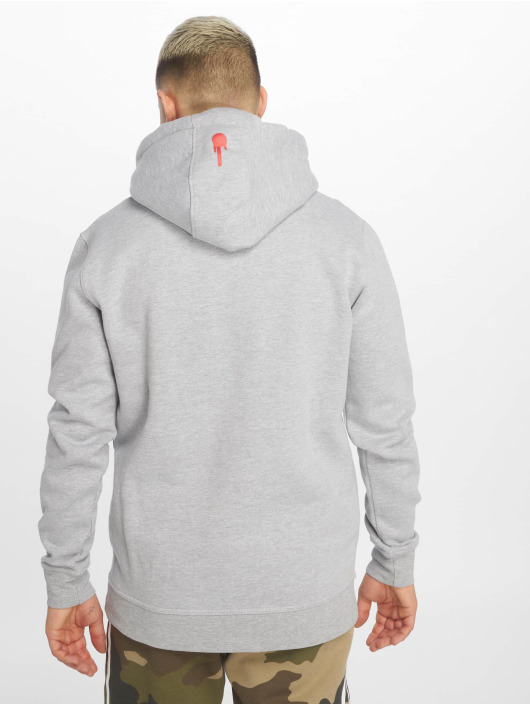 Who Shot Ya? Sweat capuche Logo gris