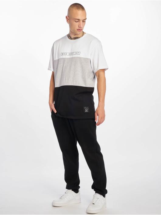 Who Shot Ya? T-Shirt 3Tone blanc