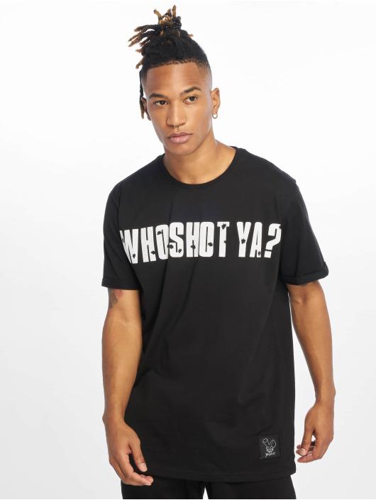 Who Shot Ya? T-Shirt Bullet Holes noir