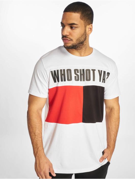 Who Shot Ya? T-Shirt Block weiß