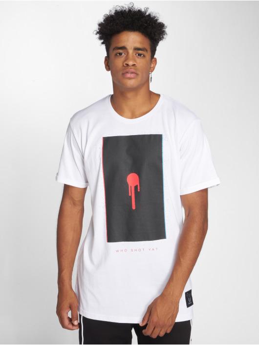 Who Shot Ya? T-Shirt Glitch Shot white