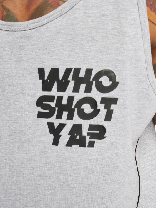 Who Shot Ya? Tank Tops Pearl grau