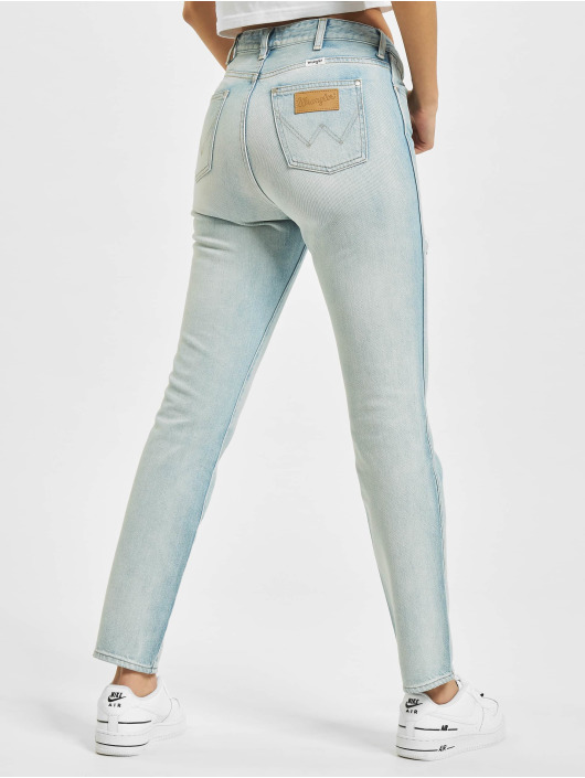 Wrangler Straight Fit Jeans Retro blå