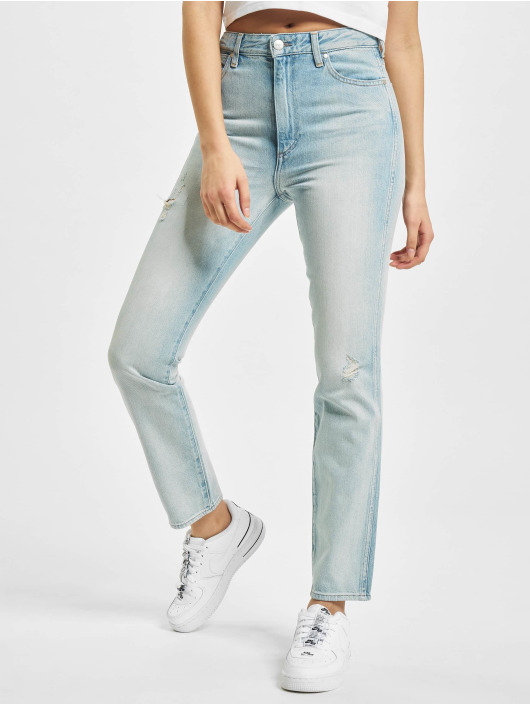 Wrangler Straight Fit Jeans Retro blau