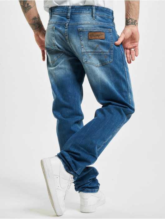 Wrangler Straight fit jeans All Blue blauw