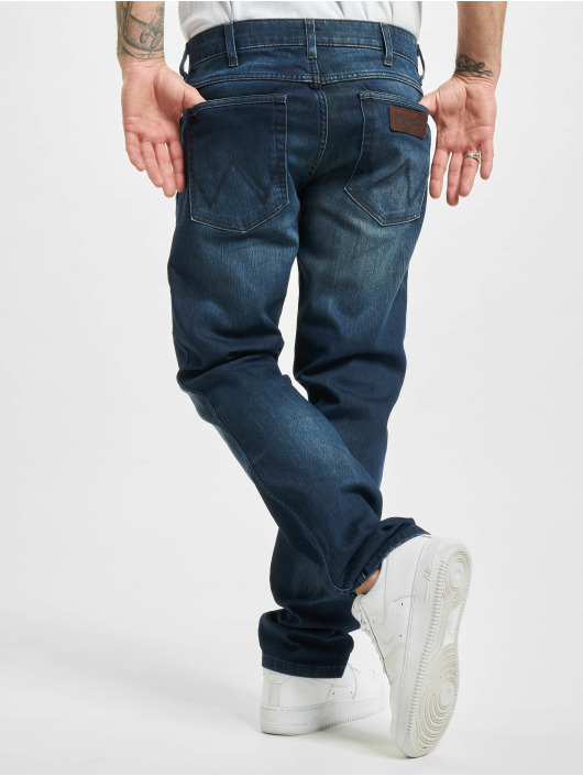 Wrangler Straight fit jeans Easy Brushed blauw
