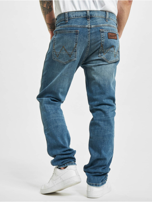 Wrangler Straight Fit Jeans Blue What Blue modrý