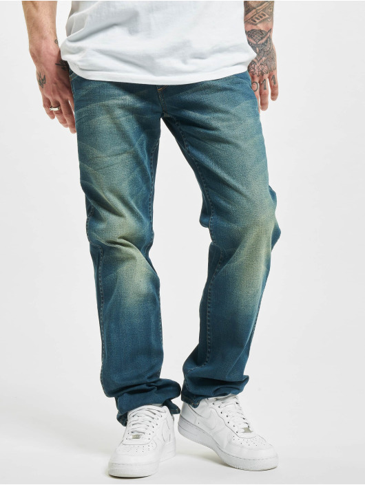 Wrangler Straight Fit Jeans Broke Down modrý