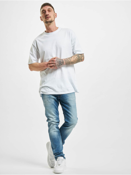 Wrangler Straight Fit Jeans Fired Up modrý