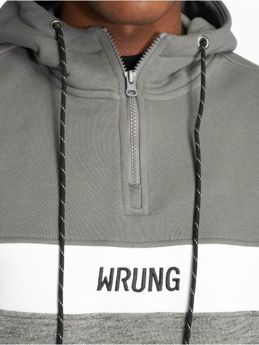 Wrung Division Bluzy z kapturem Kyo szary