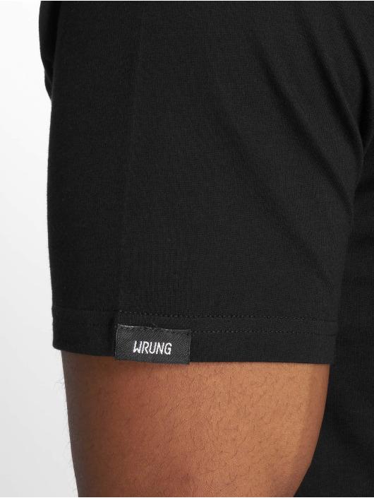 Wrung Division Camiseta Back Sign negro