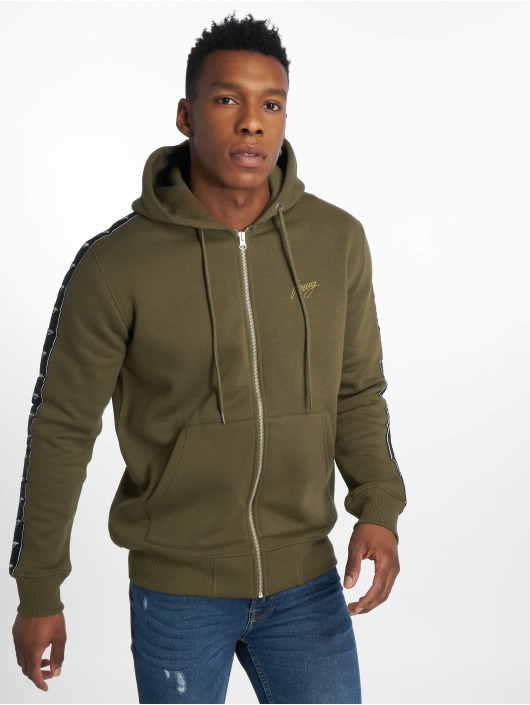 Wrung Division Hoodies con zip Ross cachi