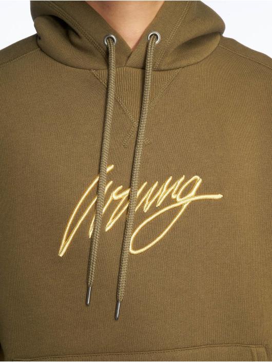 Wrung Division Hoodies Sign khaki