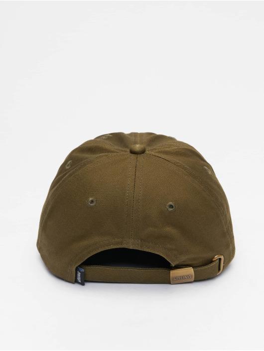 Wrung Division Snapback Caps Sign Logo hnědožlutý