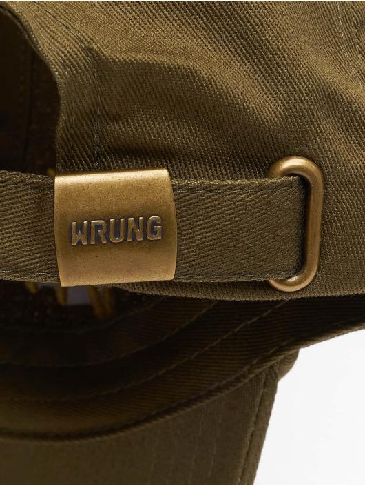 Wrung Division Snapback Caps Sign Logo khaki