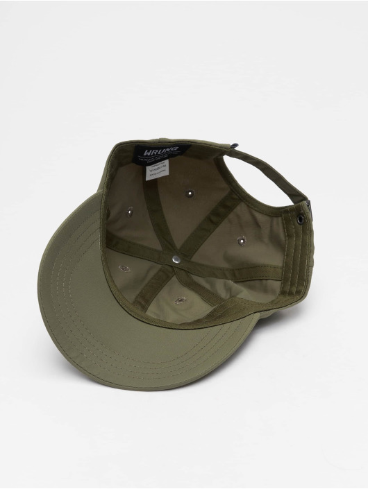 Wrung Division Snapback Caps Og 90 khakiruskea