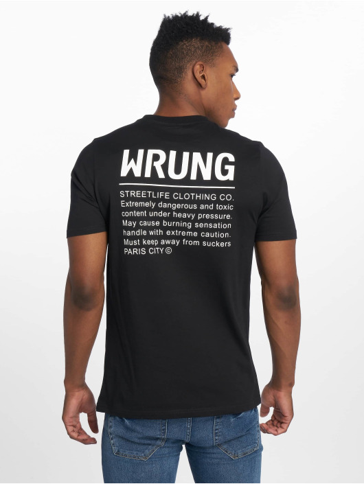 Wrung Division T-Shirt Caution schwarz