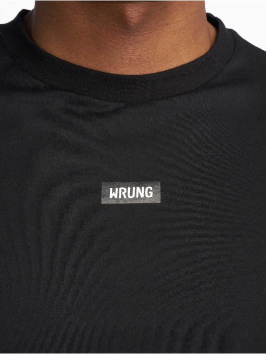 2866c0ebfa62d Wrung Division bovenstuk   t-shirt Caution in zwart 616758