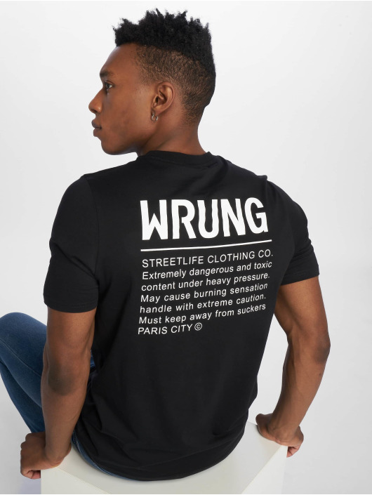 Wrung Division T-Shirty Caution czarny