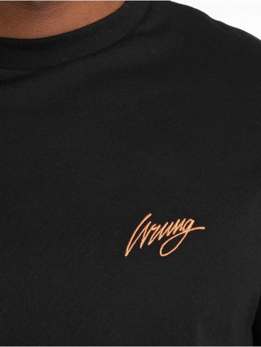 Wrung Division T-skjorter Back Sign svart