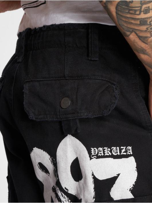 Yakuza Šortky Skull Label èierna