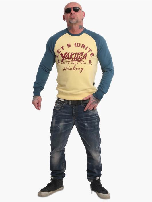 Yakuza Пуловер History Raglan желтый