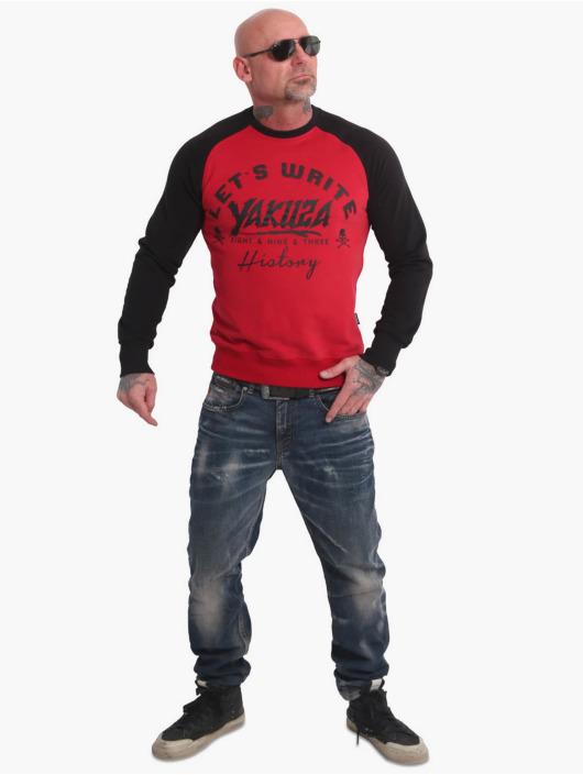 Yakuza Пуловер History Raglan красный