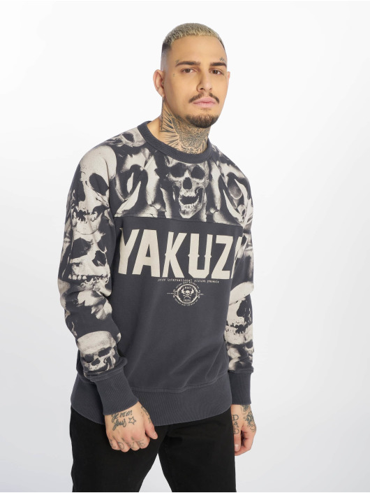 Yakuza Пуловер Sick N Fxck серый