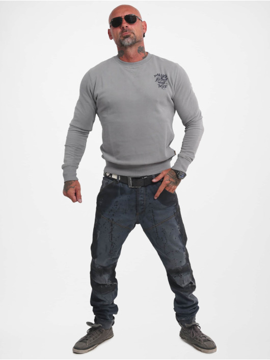 Yakuza Пуловер Basic Line 4W Crew серый