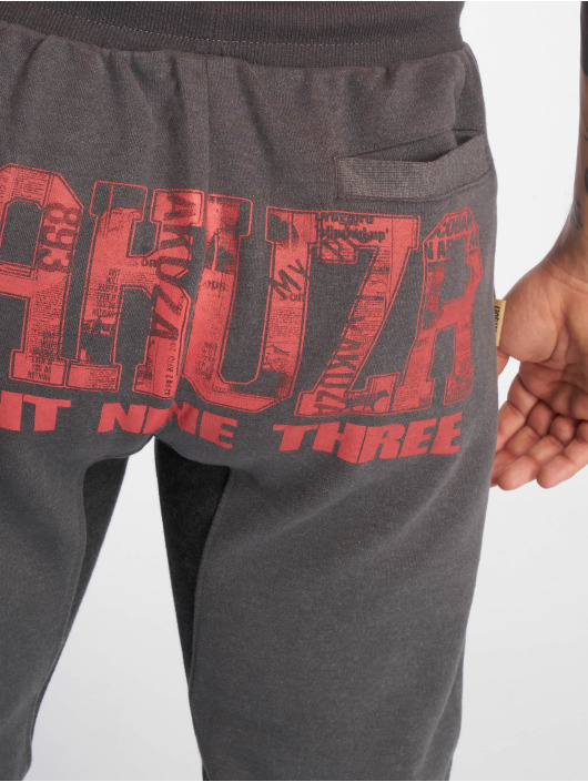 Yakuza Спортивные брюки Badge серый