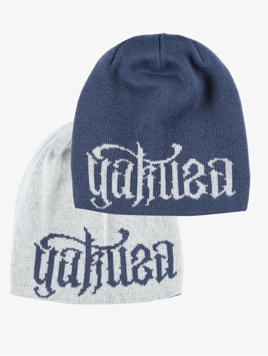 Yakuza Beanie Branding Reversible Knit blau