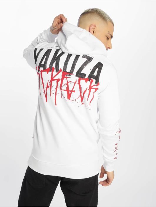 Yakuza Bluzy z kapturem Smile bialy