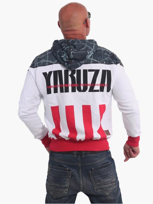 Yakuza Bluzy z kapturem Barbwire bialy