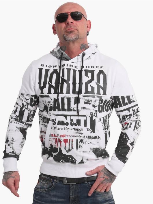 Yakuza Bluzy z kapturem Wallpaper bialy