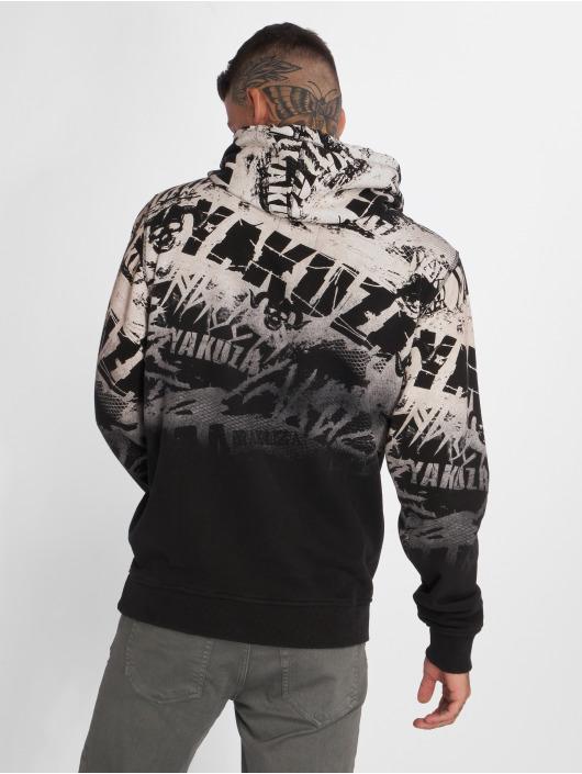 Yakuza Bluzy z kapturem Crow czarny