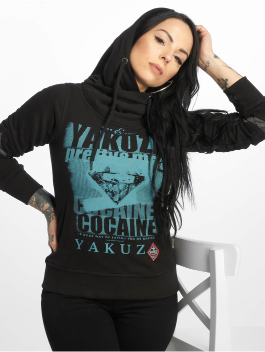 Yakuza Bluzy z kapturem Cocaine Two Face czarny