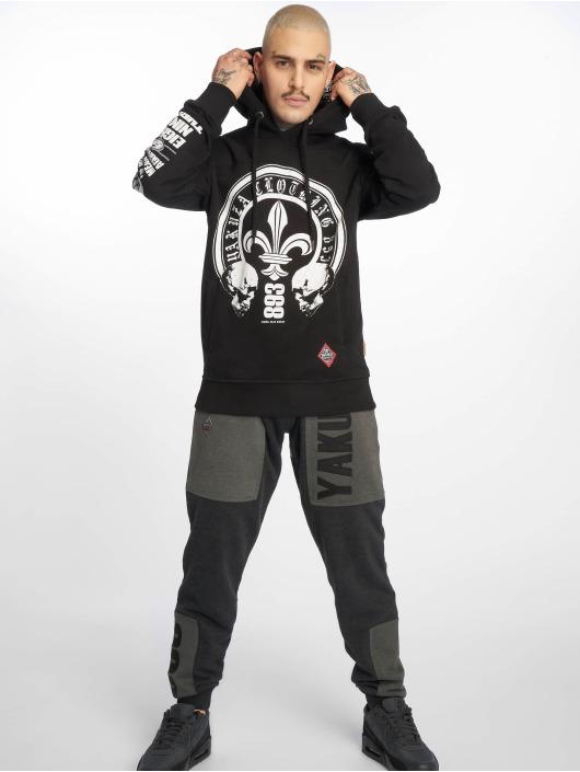 Yakuza Bluzy z kapturem Lily Skull Two Face czarny