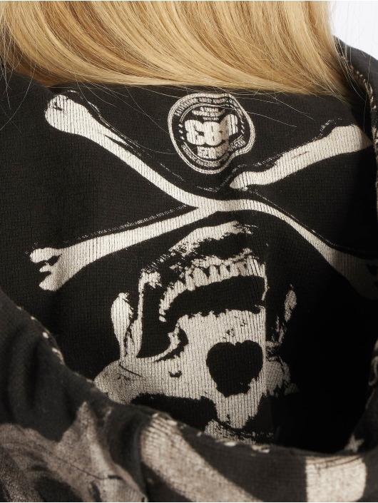 Yakuza Bluzy z kapturem Allover Funnel czarny