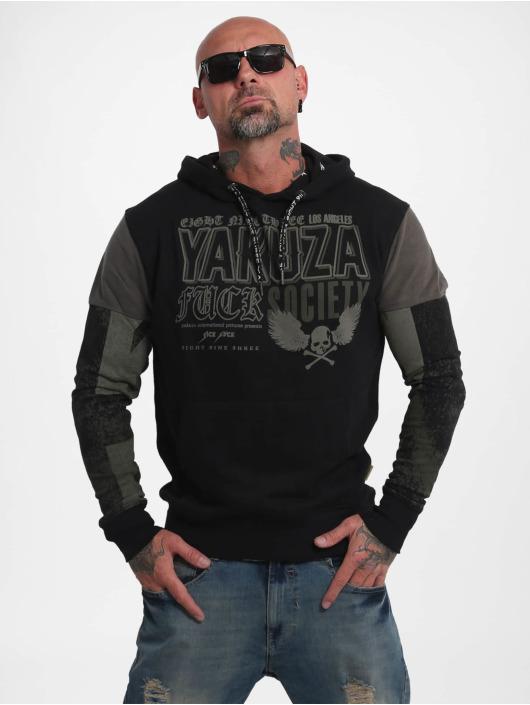 Yakuza Bluzy z kapturem Fuck Society Two Face czarny