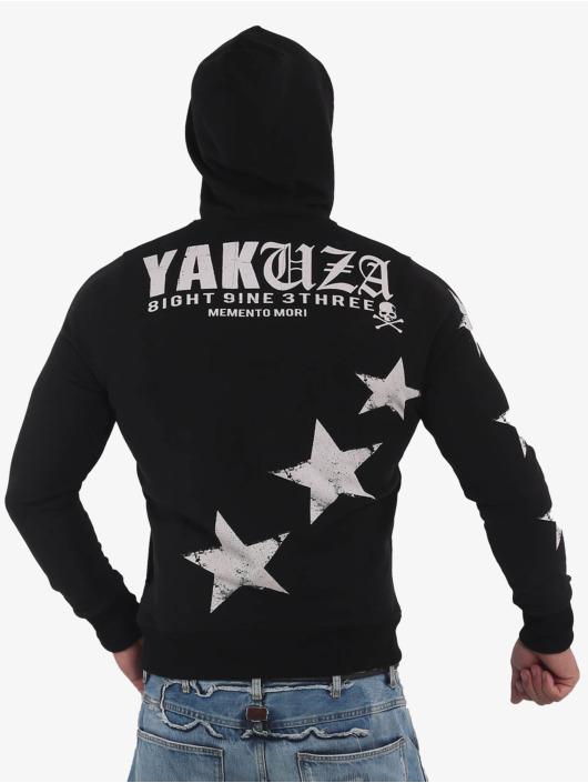 Yakuza Bluzy z kapturem Overskulled czarny