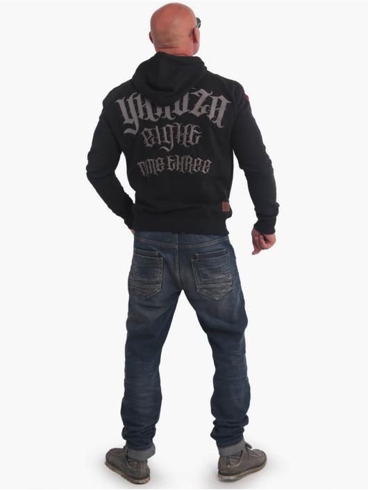 Yakuza Bluzy z kapturem Sick Skull czarny
